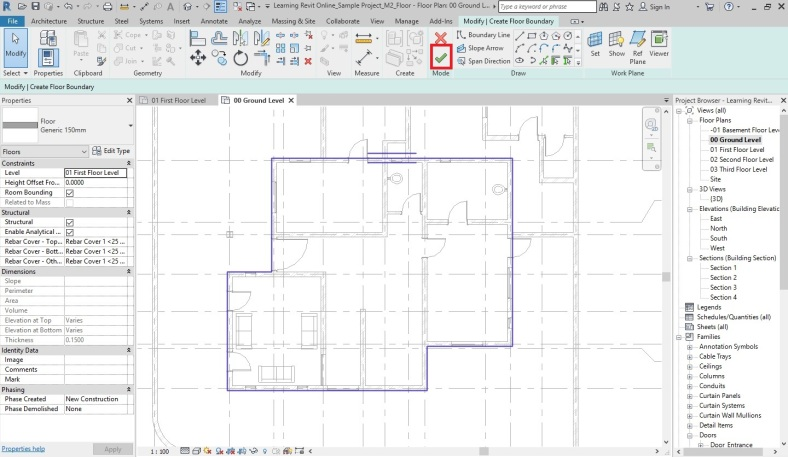 Modeling Floors | Learning Revit Online